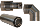 Коаксиальный дымоход для газовых каминов Karma NOBLESSE D130/200 1000 мм в Красноярске