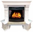 Портал Royal Flame Pierre Luxe белый сланец угловой для очага Dioramic 25 в Красноярске
